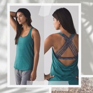 Lululemon Wild Tank in Teal and Heathered Gray